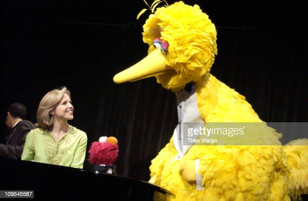 Katie Couric with Sesame Street's Elmo and Big Bird