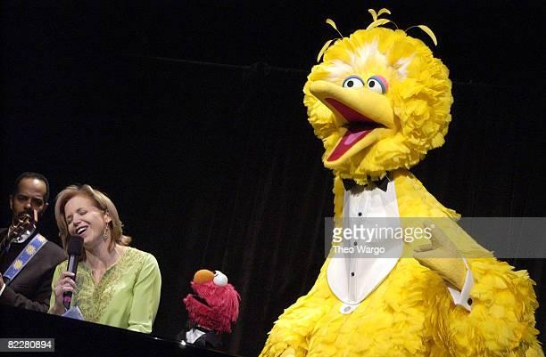 Katie Couric with Sesame Street's Elmo and Big Bird