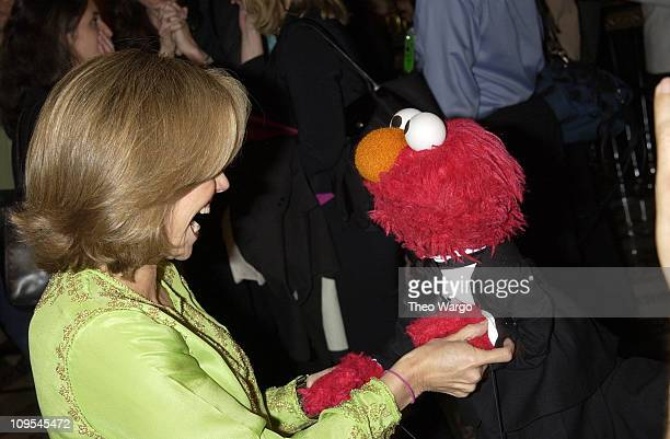 Katie Couric with Sesame Street's Elmo during Sesame Street Celebrates 35 Years of Making A Difference in the Lives at Gala Honoring Kofi and Nane...
