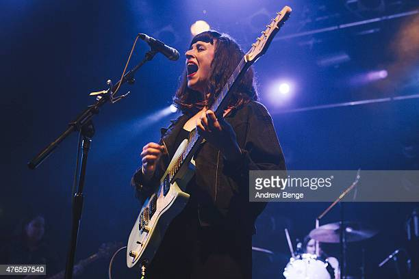 Katie Crutchfield of Waxahatchee performs on stage at Electric Ballroom on June 10 2015 in London United Kingdom