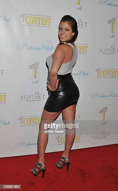 Katie Cummings arrives at The 1 Contest Launch Party at Cabana Club on October 16 2009 in Hollywood California