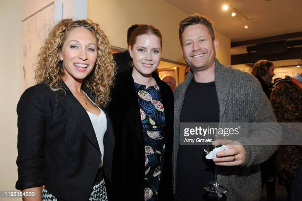 Katie Daryl Amy Adams and Eddie Adams attend the Trigg Ison Fine Art In Association With Krista Smith And Sam TaylorJohnson Present Darren Legallo...