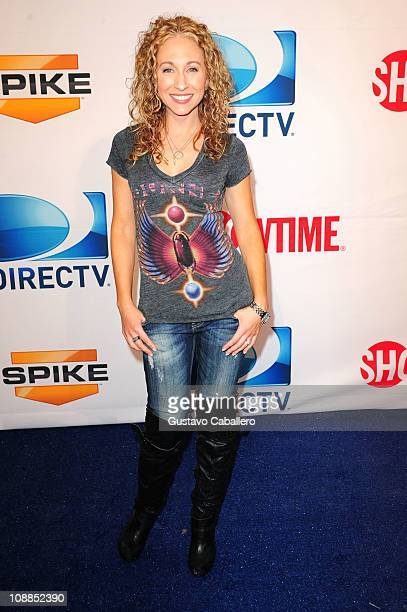 Katie Daryl of HDNet arrives at DIRECTV's Fifth Annual Celebrity Beach Bowl at Victory Park on February 5 2011 in Dallas Texas