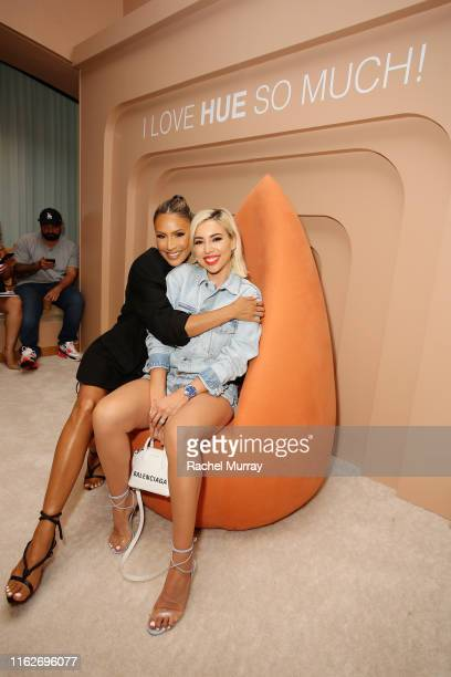 Katie DeGroot and Desi Perkins attend Dose of Colors presents MEET YOUR HUE POP UP on July 17 2019 in Beverly Hills California