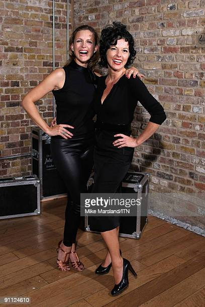 Katie Derham and Mary Nightingale of the BBC news team pose after their performance at the Newsroom�s Got Talent event held in aid of Leonard...