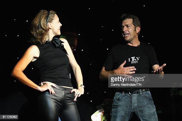 Katie Derham and Steve Scott of the ITV news team perform at the Newsroom�s Got Talent event held in aid of Leonard Cheshire Disability and Helen...