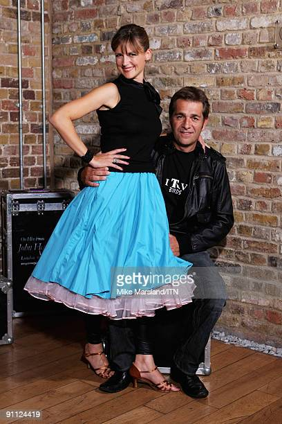 Katie Derham and Steve Scott of the ITV news team pose ahead of their performance at the Newsroom�s Got Talent event held in aid of Leonard Cheshire...