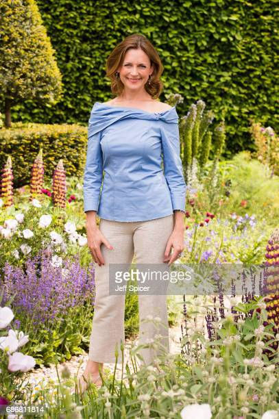Katie Derham attends RHS Chelsea Flower Show press day at Royal Hospital Chelsea on May 22 2017 in London England