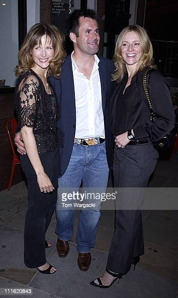Katie Derham Kenny Logan and Gaby Logan during Gabby Logan and Katie Derham Sighting at Leon in London September 29 2005 at Leon Restaurant in London...