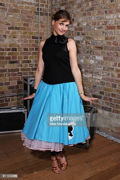 Katie Derham of the ITV news team poses ahead of the performance at the Newsroom�s Got Talent event held in aid of Leonard Cheshire Disability and...