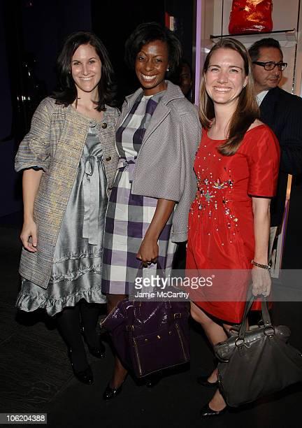 Katie Devine of Elle Magazine Samantha Fennell of Elle Magazine and Libby Conover of Elle Magazine