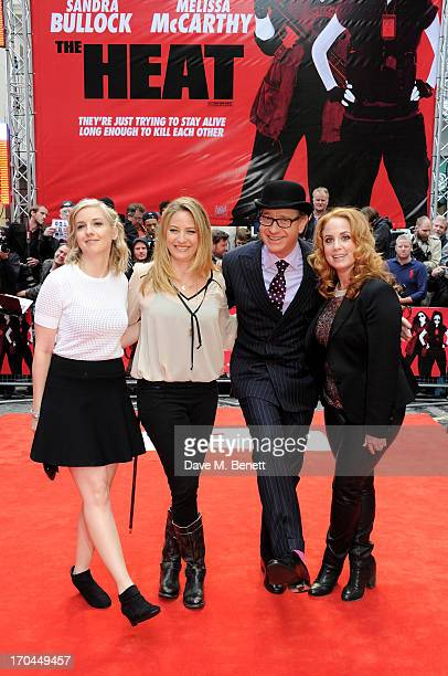 Katie Dippold Jamie Denbo Paul Feig and Jessica Chaffin attend a gala screening of 'The Heat' at The Curzon Mayfair on June 13 2013 in London England