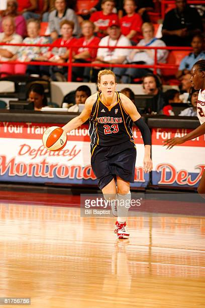 Katie Douglas of the Indiana Fever drives the ball at Reliant Arena on June 28, 2008 in Houston, Texas. NOTE TO USER: User expressly acknowledges and...