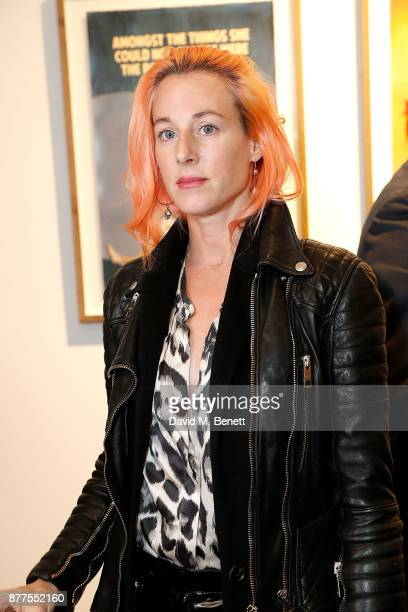 Katie Eary attends an intimate VIP private view for The Connor Brothers with catering by Michelin Starred chef Tom Sellers at Maddox Gallery on...