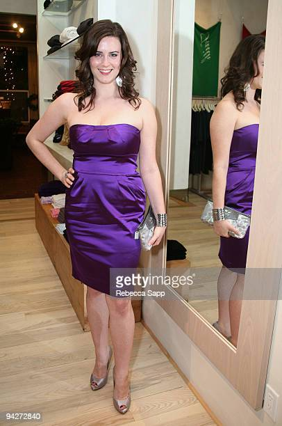 Katie Featherston at Celebrity Fundraiser for American Heart Association at Fred Segal on December 10 2009 in Santa Monica California