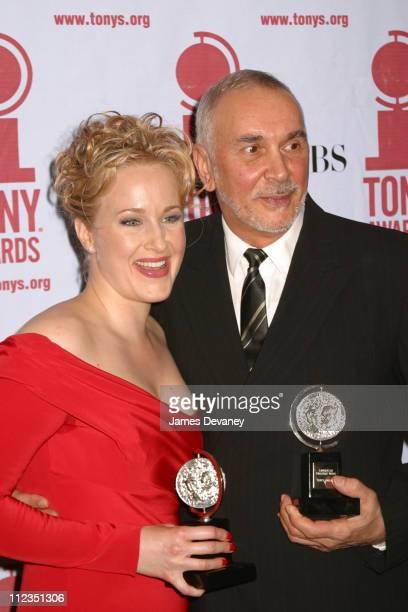 Katie Finneran and Frank Langella during 56th Annual Tony Awards Press Room at American Theater at Radio City Music Hall in New York City New York...