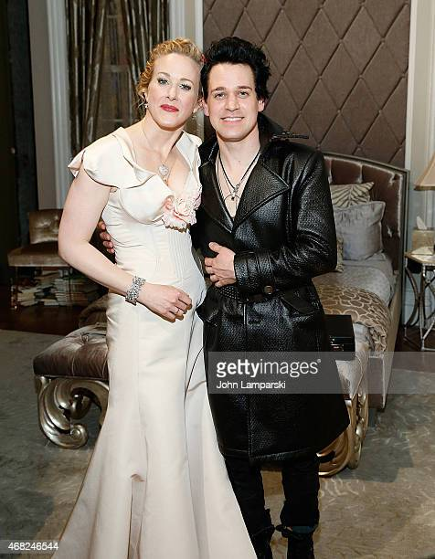 Katie Finneran and TR Knight attend 'It's Only A Play' on Broadway welcomes Nathan Lane TR Knight at The Bernard B Jacobs Theatre on March 31 2015 in...