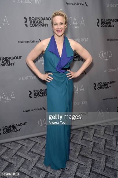 Katie Finneran attends the Roundabout Theatre Company's 2018 Gala at The Ziegfeld Ballroom on February 26 2018 in New York City