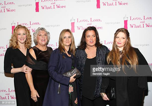 Katie Finneran Tyne Daly Samantha Bee Rosie O'Donnell and Natasha Lyonne attend the after party for the opening night of 'Love Loss and What I Wore'...