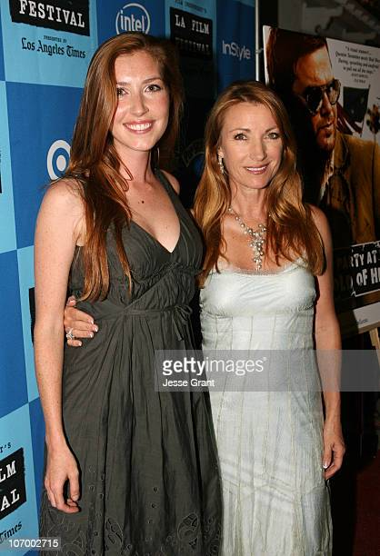 Katie Flynn and Jane Seymour during 2006 Los Angeles Film Festival The Beach Party at the Threshold of Hell Screening and QA at Crest Theater in...