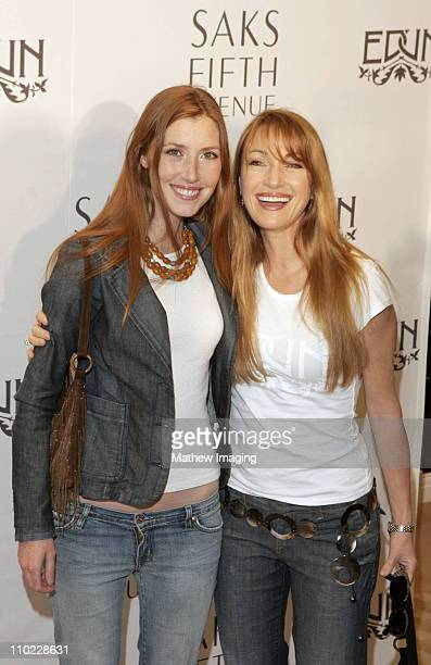 Katie Flynn and Jane Seymour during Bono Ali Hewson and Designer Rogan Gregory Launch New Conscious Commerce Clothing Line at Saks Fifth Avenue Men's...