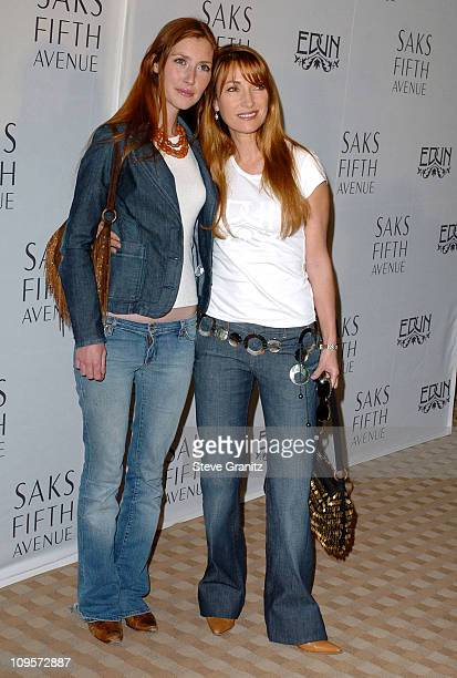 Katie Flynn and Jane Seymour during Bono Ali Hewson and Rogan Gregory Launch the New Conscious Commerce Clothing Line at Saks Fifth Avenue Men's...