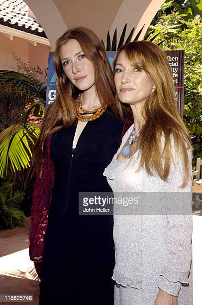 Katie Flynn and Jane Seymour during Liz Smith Dishes with AARP The Magazine and Hollywood's Hottest Bold Faced Names at Hotel BelAir in Bel Air...