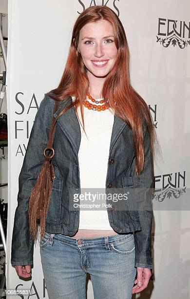 Katie Flynn during Bono Ali Hewson and Designer Rogan Gregory Launch New Conscious Commerce Clothing Line at Saks Fifth Avenue Men's Store in Beverly...