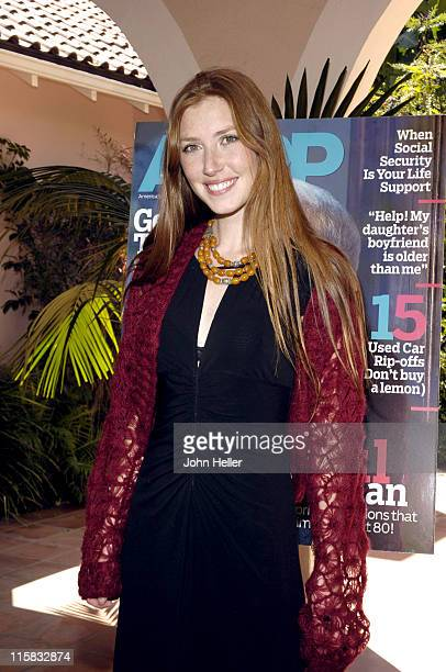Katie Flynn during Liz Smith Dishes with AARP The Magazine and Hollywood's Hottest Bold Faced Names at Hotel BelAir in Bel Air California United...