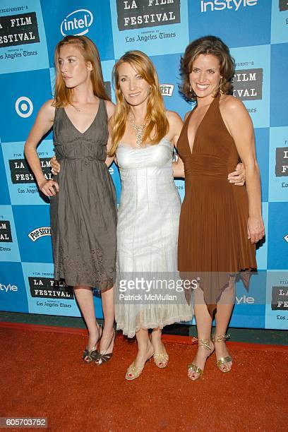 Katie Flynn Jane Seymour and Jamie Bullock attend Los Angeles Film Festival Premiere Screening for The Beach Party at the Threshold of Hell at...