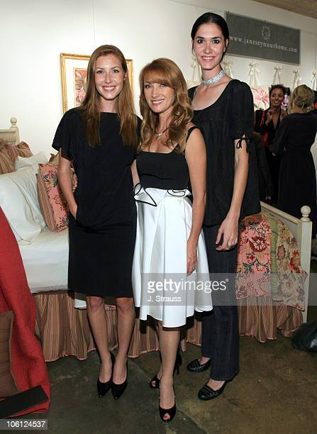 Katie Flynn Jane Seymour and Jenni Flynn during Jane Seymour Kicks Off her National Art Pillow Contest to Benefit Childhelp in Los Angeles California...