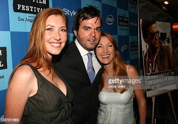 Katie Flynn Kevin Wheatley and Jane Seymour during 2006 Los Angeles Film Festival The Beach Party at the Threshold of Hell Screening and QA at Crest...