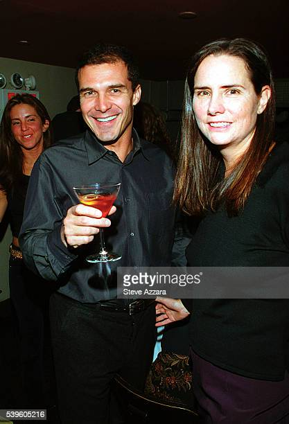 Katie Ford and her husband Andre Balasez at publicist Lizzie Grubman's 30th birthday party at Moomba in New York City