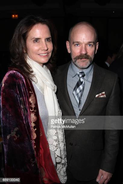 Katie Ford and Michael Stipe attend FOOD BANK FOR NEW YORK Presents the Sixth Annual CANDO AWARDS DINNER at Pier 60 on April 21 2009 in New York City