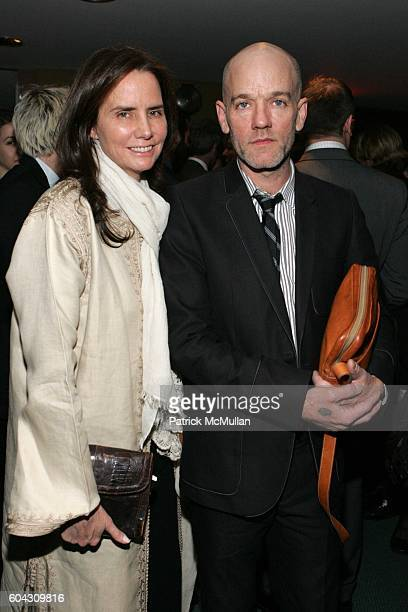 Katie Ford and Michael Stipe attend Premiere Commission Inc presents it's Fifth Anniversary Gala with Bruce Levingston in Concert at Alice Tully Hall...