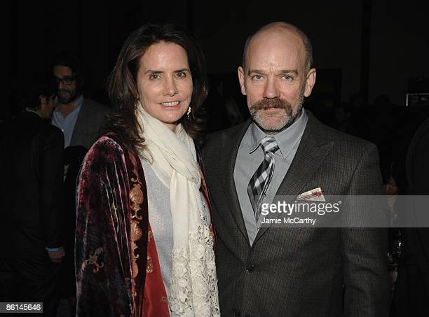 Katie Ford and musician Michael Stipe attend the Food Bank For New York City's Sixth Annual CanDo Awards at Abigail Kirsch's Pier Sixty at Chelsea...
