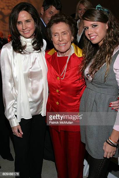 Katie Ford Eileen Ford and Alessandra Balazs attend Westfield Presents Ford Supermodel of the World 2006/2007 at Skylight Studios on January 17 2007...