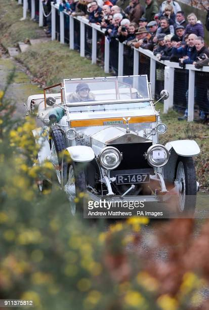 Katie Forrest from Guildford competes in her 1912 RollRoyce Silver Ghost known as quotThe Taj Mahalquot and originally owned by the Maharaja of Nabha...