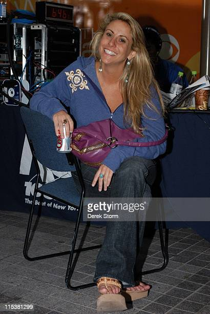 Katie Gallagher from Survivor during 'Survivor' Winner Tom Weston and the Cast of 'Everybody Loves Raymond' Visit 'The Early Show' May 16 2005 at CBS...