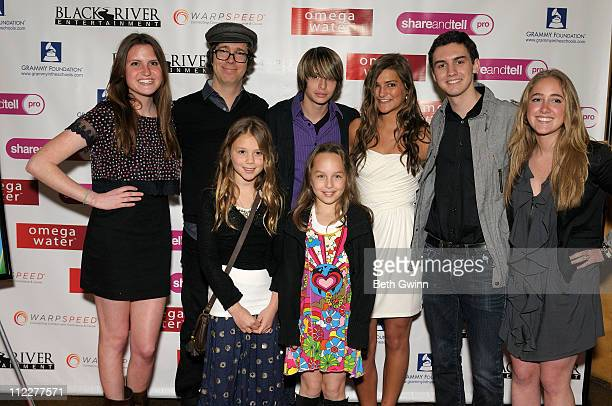 Katie Gavin Julia Rose Folds Ben Folds Lily Black Grant Austin Taylor Christine Jamra and Jillian Grutta attend a post screening party for Happy On...