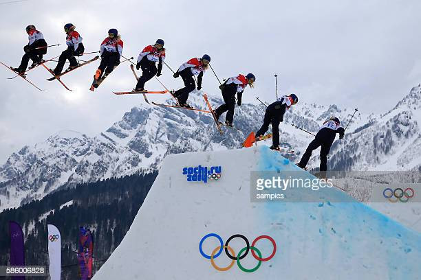 Katie GBR slopestyle ski Freestyle in Rosa Khutor Extreme Park olympic winter games 2014 sochi olympische Spiele winterspiele in Sochi sotchi 2014