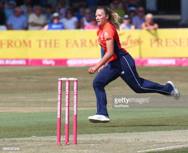 Katie George of England Women during International Twenty20 Final match between England Women and New Zealand Women at The Cloudfm County Ground...