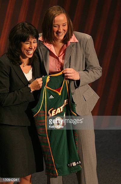 Katie Geralds of Purdue is selected as the 7th overall draft pick by the Seattle Storm during the 2007 WNBA Draft at the Renissance Hotel Cleveland...