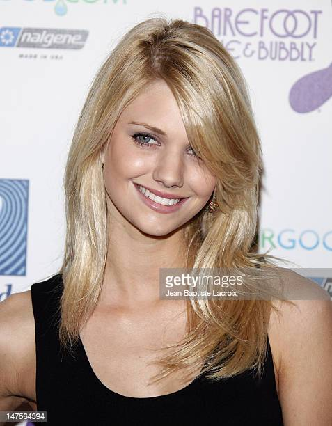 Katie Gill arrives at The Surfrider Foundation's 25th Anniversary Gala at the California Science Center's Wallis Annenberg Building on October 9 2009...