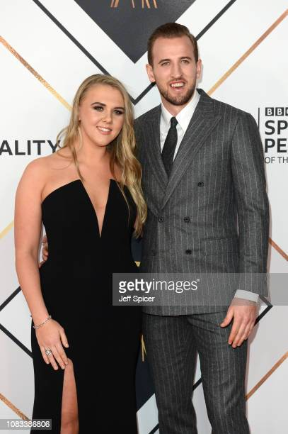 Katie Goodland and Harry Kane attend the 2018 BBC Sports Personality Of The Year at The Vox Conference Centre on December 16 2018 in Birmingham...