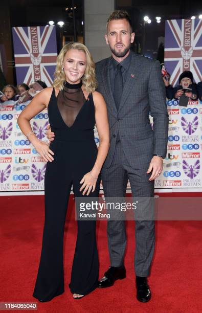 Katie Goodland and Harry Kane attend the Pride Of Britain Awards 2019 at The Grosvenor House Hotel on October 28 2019 in London England
