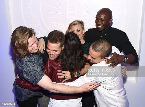 Katie Goodwitn and actors Elden Henson, Wes Chatham, Natalie Dormer, Mahershala Ali, and Evan Ross attend Samsung and Lionsgate premiere of the first...
