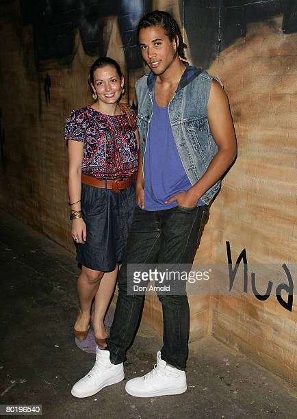 Katie Graham and Kyle Linehan attend a Nudie Jeans Cocktail Party at the Oxford Art Factory on March 11 2008 in Sydney Australia