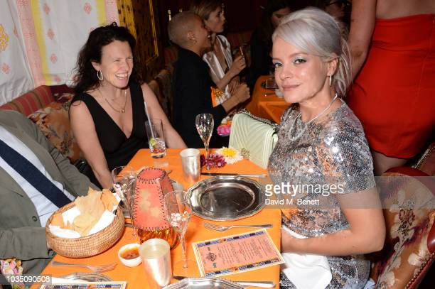 Katie Grand and Lily Allen attend the LOVE Magazine 10th birthday party with PerrierJouet at Loulou's on September 17 2018 in London England
