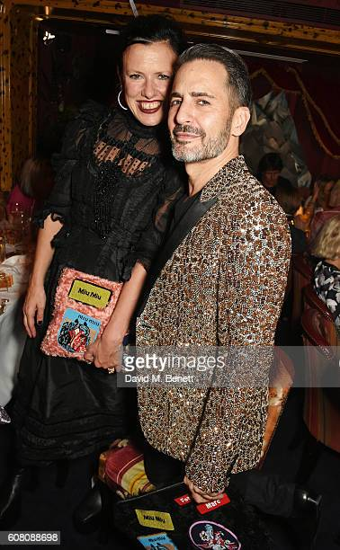 Katie Grand and Marc Jacobs attend the LOVE Magazine and Marc Jacobs LFW Party to celebrate LOVE 165 collector's issue of LOVE and Berlin 1989 at...